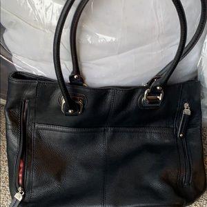Tignanello Women's HandBag Black Leather